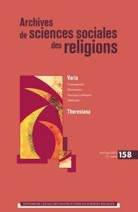 François Weil - Archives de sciences sociales des religions N° 158, avril-juin 2 : .