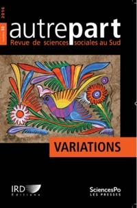 Sciences Po - Autrepart N° 80, 2016 : Variations.