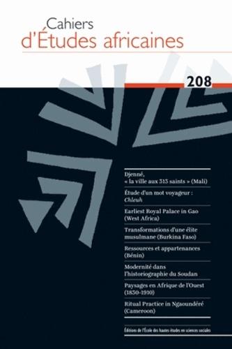 EHESS - Cahiers d'études africaines N° 208/2012 : .