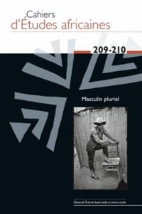 Christophe Broqua et Anne Doquet - Cahiers d'études africaines N° 209-210/2013 : Masculin pluriel.
