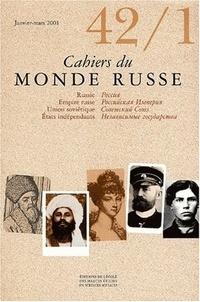 EHESS - Cahiers du Monde russe N° 42/1, Janvier-mar : .