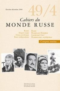 François Weil - Cahiers du Monde russe N° 49/ 4, Octobre-dé : .