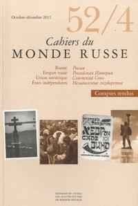 François Hartog - Cahiers du Monde russe N° 52/4, Octobre-Déc : .
