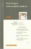 Viatcheslav Nikonov et Marie Mendras - Critique internationale N° 12, juillet 2001 : Russie : une décennie pour rien ?.