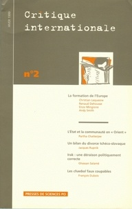 Partha Chatterjee et Ghassan Salamé - Critique internationale N° 2, hiver 1999 : La formation de l'Europe.