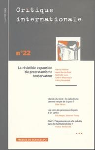 Patrick Michel et Nathalie Luca - Critique internationale N° 22 Janvier 2004 : La résistible expansion du protestantisme conservateur.