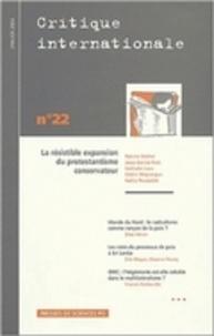 Patrick Michel - Critique internationale N° 22, janvier 2004 : La résistible expansion du protestantisme conservateur.