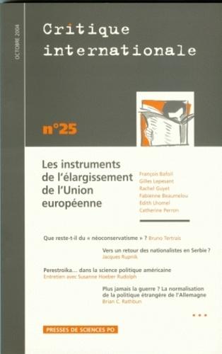 François Bafoil - Critique internationale N° 25, Octobre 2004 : Les instruments de l'élargissement de l'Union européenne.