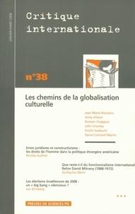 Jean-Marie Bouissou et Anne Allison - Critique internationale N° 38, janvier-mars : Les chemins de la globalisation culturelle.