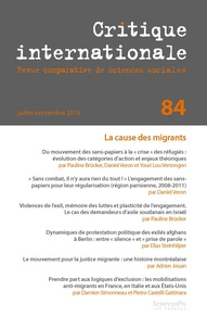 Revue - Critique internationale N° 84 : .