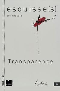 Antoine Nastasi - Esquisse(s) N° 3, Automne 2012 : Transparence.
