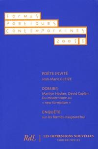 Jean-Jacques Thomas et Jean-Marie Gleize - Formes Poétiques Contemporaines N° 3/2005 : .