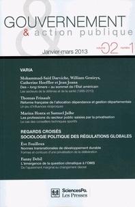 Mohammad-Saïd Darviche et William Genieys - Gouvernement & action publique Volume 2 N° 1, Janvi : .