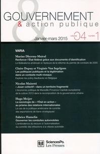 Philippe Bezes et Patrick Hassenteufel - Gouvernement & action publique Volume 4 N° 1, Janvi : Varia.