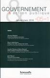 Thomas Ehrhard et Pierre-André Juven - Gouvernement & action publique Volume 5 N° 1, janvi : Varia.