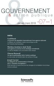 Revue - Gouvernement & action publique Volume 8 N°1 : .