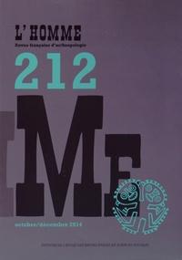 EHESS - L'Homme N° 212, Octobre-déce : .