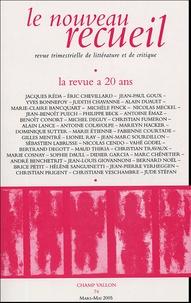Benoît Conort et Jean-Paul Goux - Le nouveau recueil N° 74, Mars-Mai 2005 : La reue a 20 ans.