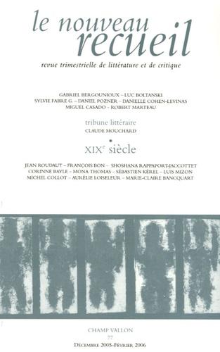 Jean-Michel Maulpoix - Le nouveau recueil N° 77, Décembre 2005 : XIXe siècle.