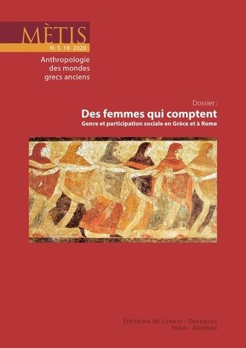 EHESS - Mètis N° 18, 2020 : Des femmes qui comptent - Genre et participation sociale en Grèce et à Rome.