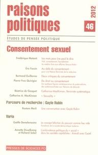 Jean-Marie Donegani - Raisons politiques N° 46 : Consentement sexuel.