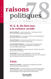 Sciences Po - Raisons politiques N° 78 : W. E. B. Du Bois.