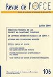 OFCE - Revue de l'OFCE N° 106, Juillet 2008 : Emploi des seniors.