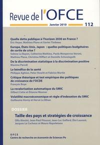 Olfa Alouini et Jean-Paul Fitoussi - Revue de l'OFCE N° 112 : Taille des pays et stratégies de croissance.