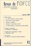 Edmund Phelps et Jérôme Creel - Revue de l'OFCE N° 92, Janvier 2005 : Europe.