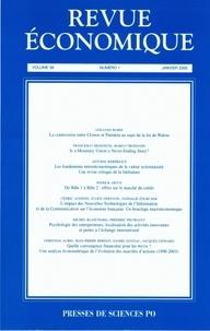Antoine Bouët - Revue économique N° 1 - Vomume 56, Ja : .