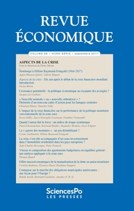 Sciences Po - Revue économique N° 68, septembre 201 : .