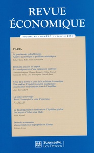Sciences Po - Revue économique Vol. 65 N° 1, janvie : Varia.