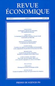 Patrick Artus et Dominique Pépin - Revue économique Volume 55 N° 2 Mars : .