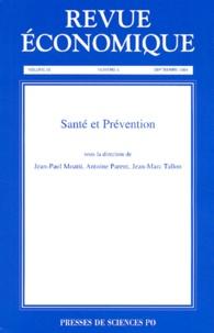 Jean-Paul Moatti et Antoine Parent - Revue économique Volume 55 N° 5 Septe : Santé et prévention.