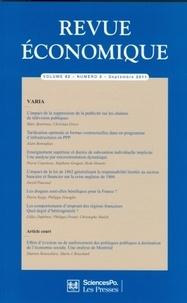 Marc Bourreau et Alain Bonnafous - Revue économique Volume 62 N° 5, Sept : .