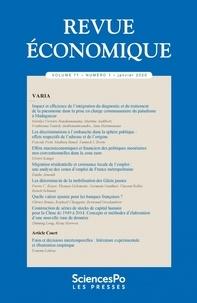 Sciences Po - Revue économique Volume 71 N° 1, févr : .