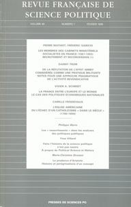 Vivien-A Schmidt et  Collectif - Revue française de science politique Volume 49 N° 1, Févr : .