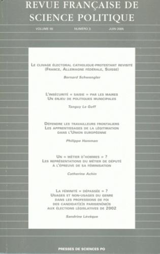 Jean-Luc Parodi - Revue française de science politique Volume 55, N° 3, Jui : .