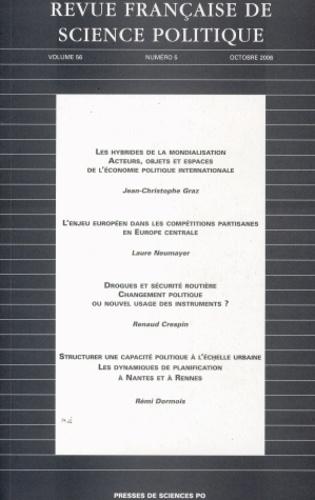 Jean-Christophe Graz et Laure Neumayer - Revue française de science politique Volume 56 N° 5, Octo : .