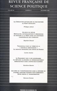 Lucien Jaume - Revue française de science politique Volume 56 N° 6, Octo : .