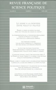 Laurie Boussaguet - Revue française de science politique Volume 59 N° 2, Avri : Le genre à la frontière antre policy et politics.