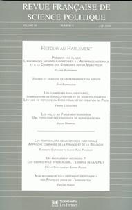 Bruno Cautrès et Michel Dobry - Revue française de science politique Volume 59 N° 3, Juin : .