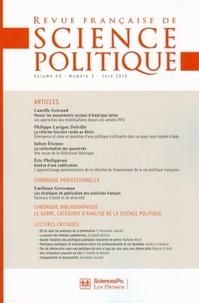 Camille Goirand et Philippe Lavigne Delville - Revue française de science politique Volume 60 N° 3, Juin : .