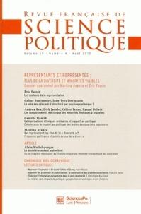 Bruno Cautrès et Michel Dobry - Revue française de science politique Volume 60 N° 4, Août : Représentants et représentés : élus de la diversité et minorités visibles.