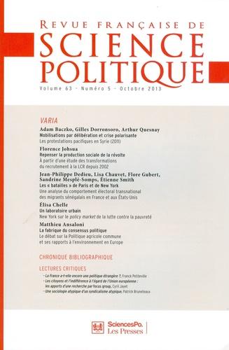 Yves Déloye - Revue française de science politique Volume 63 N° 5, Octo : Varia.