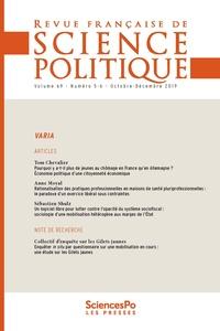 Sciences Po - Revue française de science politique Volume 69 N°5, octob : .