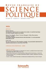 Sciences Po - Revue française de science politique Volume 70, N°6 : .