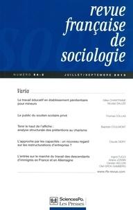 Gilles Chantraine - Revue française de sociologie N° 54-3, Juillet-sep : .