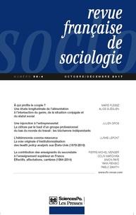 Sciences Po - Revue française de sociologie N°58-4 : .