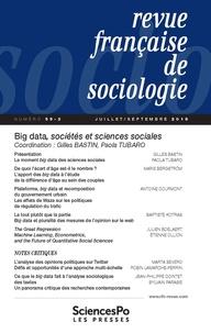 Gilles Bastin et Paola Tubaro - Revue française de sociologie N° 59-3, juillet-sep : Big data, sociétés et sciences sociales.